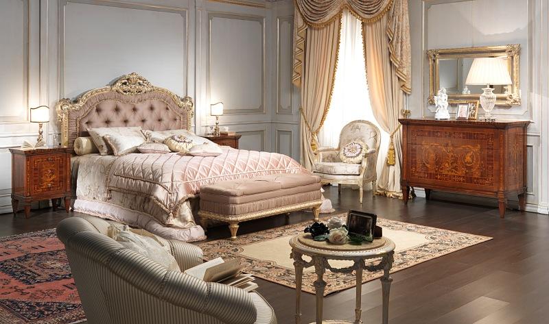 Tre camere da letto intarsiate rendono omaggio a giuseppe for Vergani arredamenti