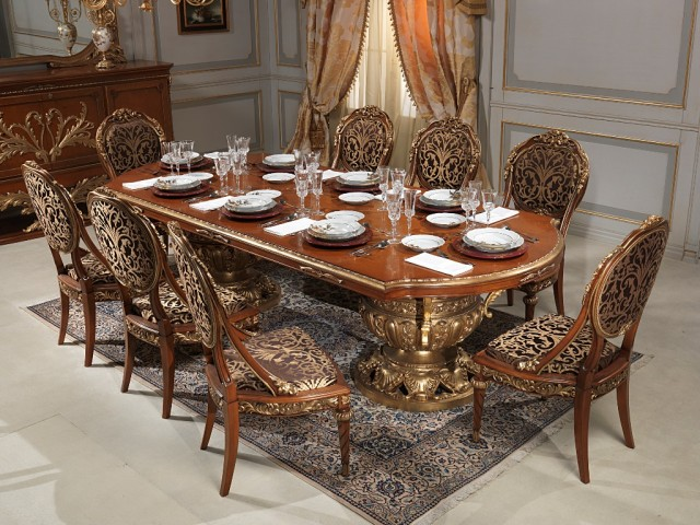 Classic dining room versailles luigi xvi style - Salle a manger louis 15 ...