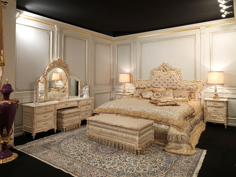 luxury bedrooms white and gold louis xvi style furniture. Black Bedroom Furniture Sets. Home Design Ideas