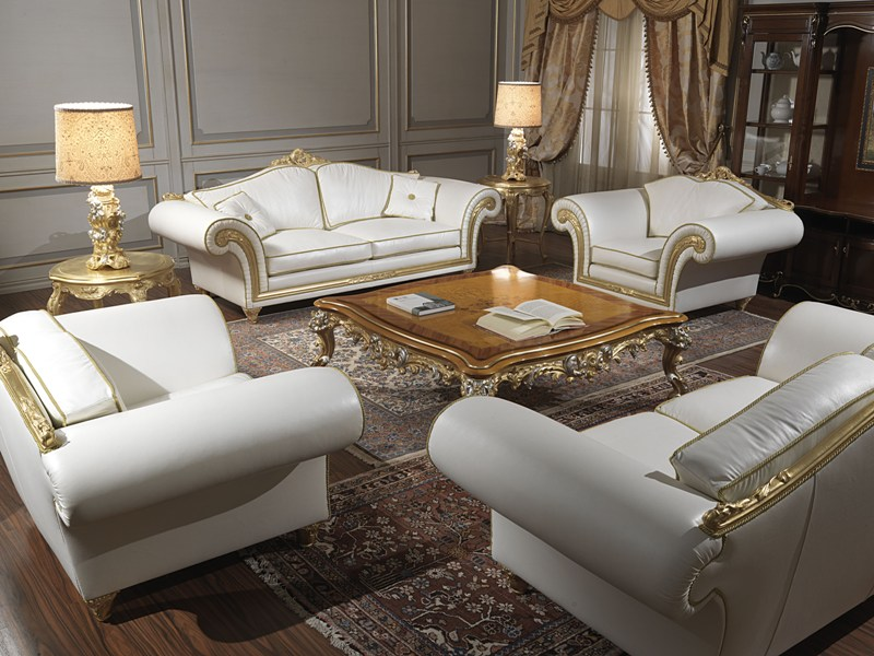 Imperial poltrone e divani classici in pelle beige for Poltrone e sofa divani in pelle