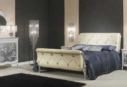 Art Decò collection – bed, night tables, chest of drawers and mirror Art Decò style – Vimercati luxury classic furniture