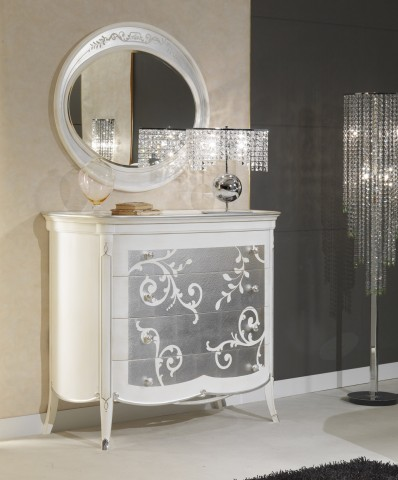 Art Decò collections – Art Decò style chest of drawers and mirror – Vimercati luxury classic furniture