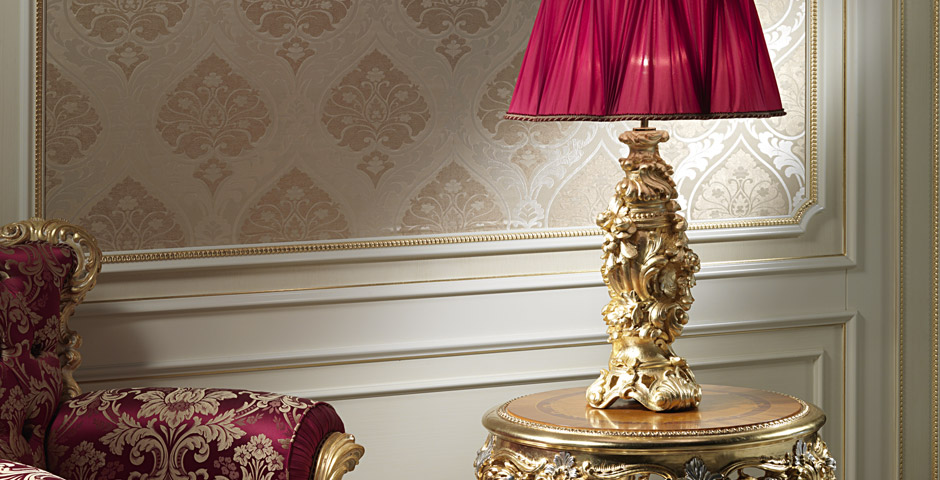 Lampada in stile barocco