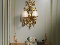 Lampada a muro dorata luigi XV