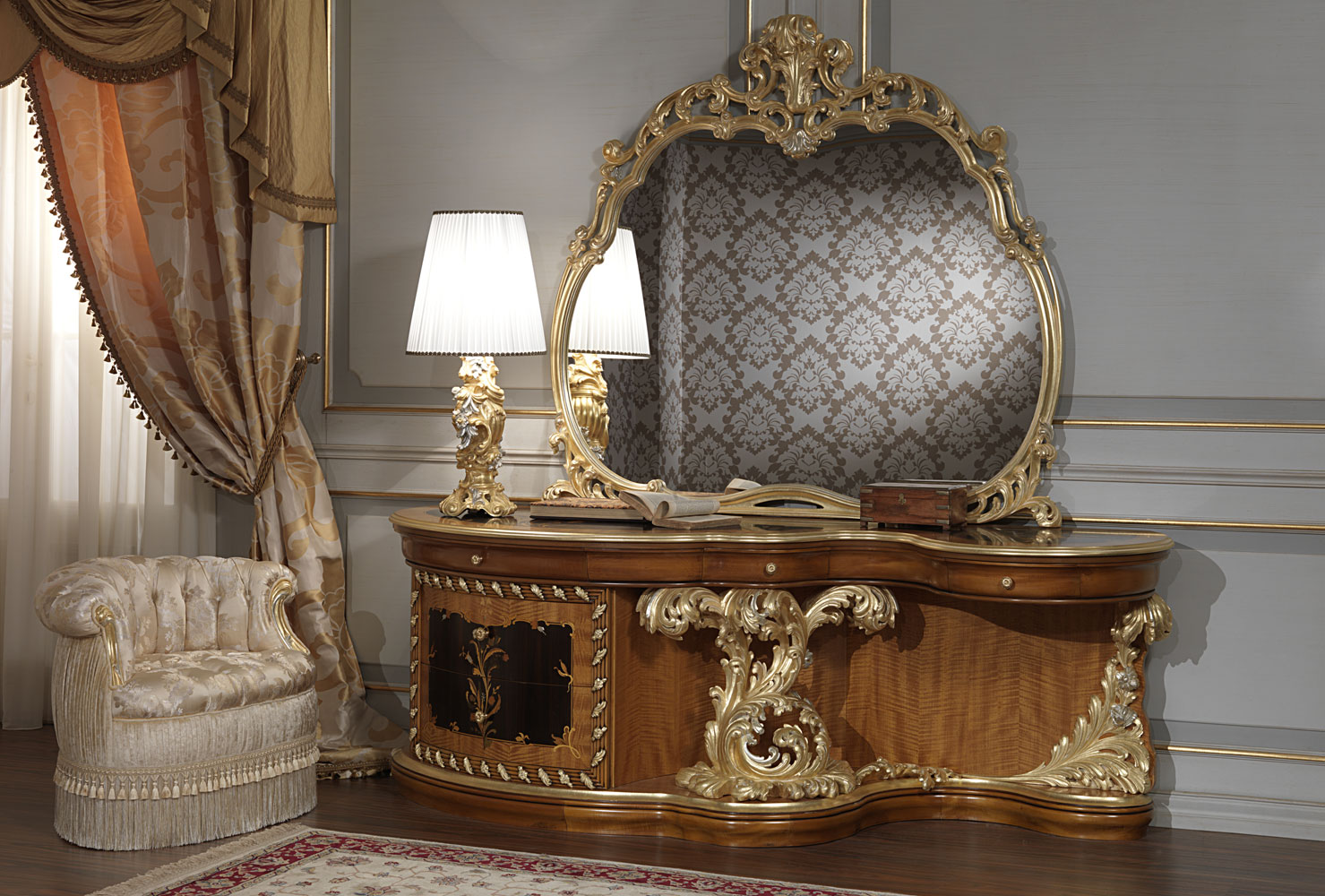 Luxury classic bedroom roman baroque style for Classic furniture