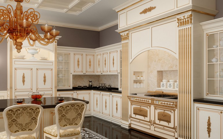 Classic customized kitchens: the luxury enters the kitchen