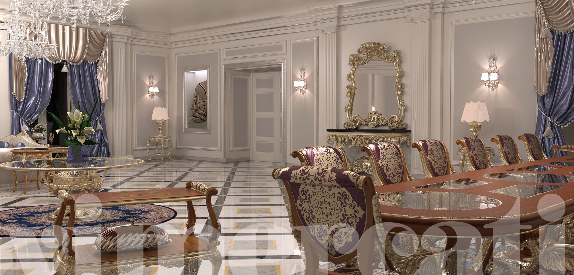 Furniture destined to luxury villas the exclusivity of classic furnishings - Arredamenti interni di ville di lusso ...