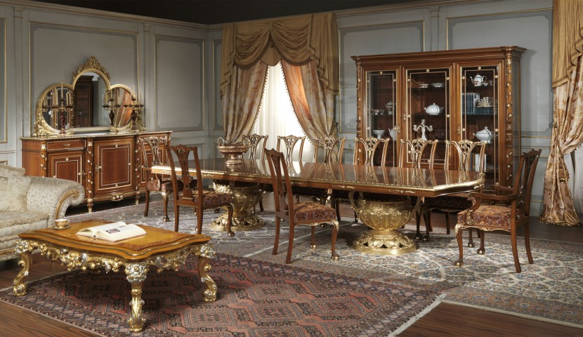 Sale da pranzo classiche in stile made in italy - Sale da pranzo stile classico ...