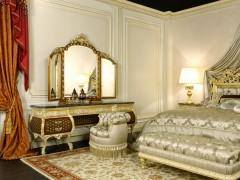 Letto lusso matrimoniale della camera Emperador Gold