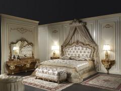 Letto classico matrimoniale barocco