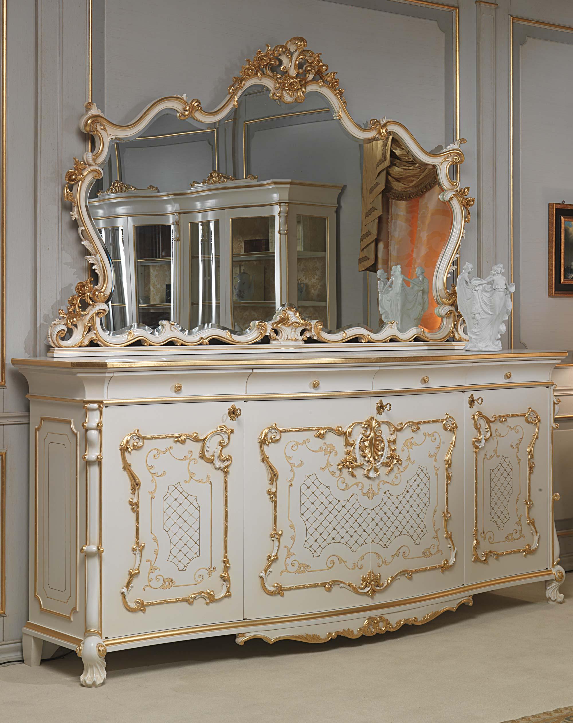 Arredamento sala classica venezia legno di noce e stile for Arredamento venezia