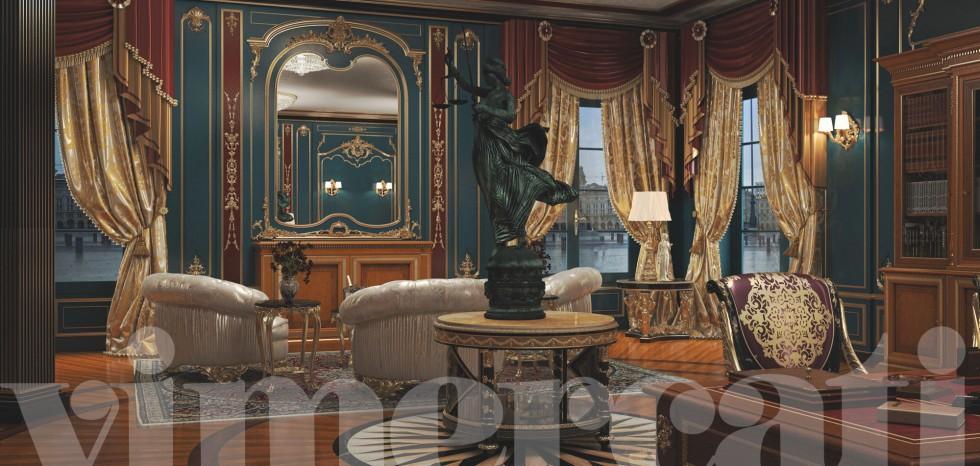 Progettazione arredamento ville lo studio salotto for Vergani home arredamento