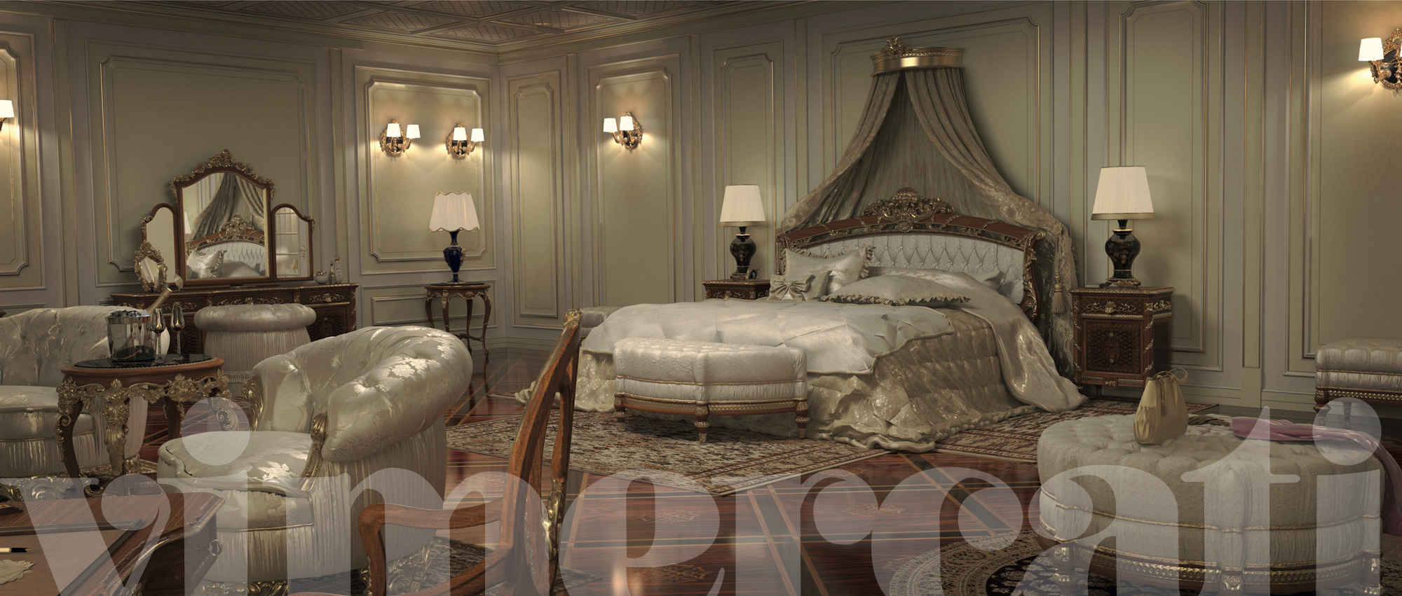 Arredamento classico ville: mobili regali per una camera da letto ...
