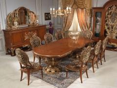 Sedie di lusso: legno e oro