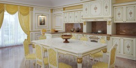 Cucine di lusso decorate