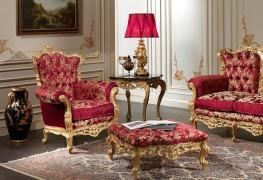 Poltrona classica in stile barocco