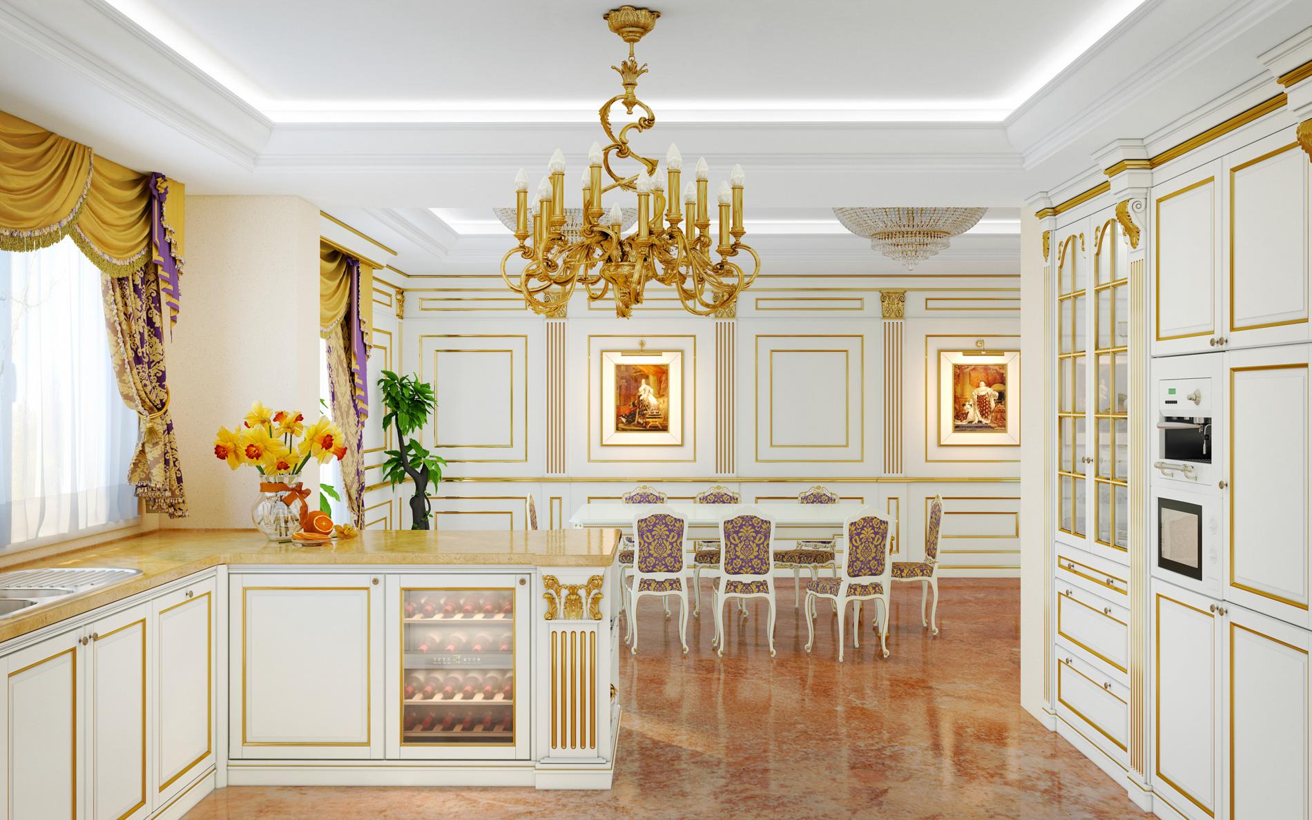 Cucine di lusso: lo stile classico protagonista ai fornelli