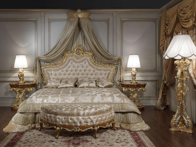 Letti classici di lusso per dormire in una camera da re