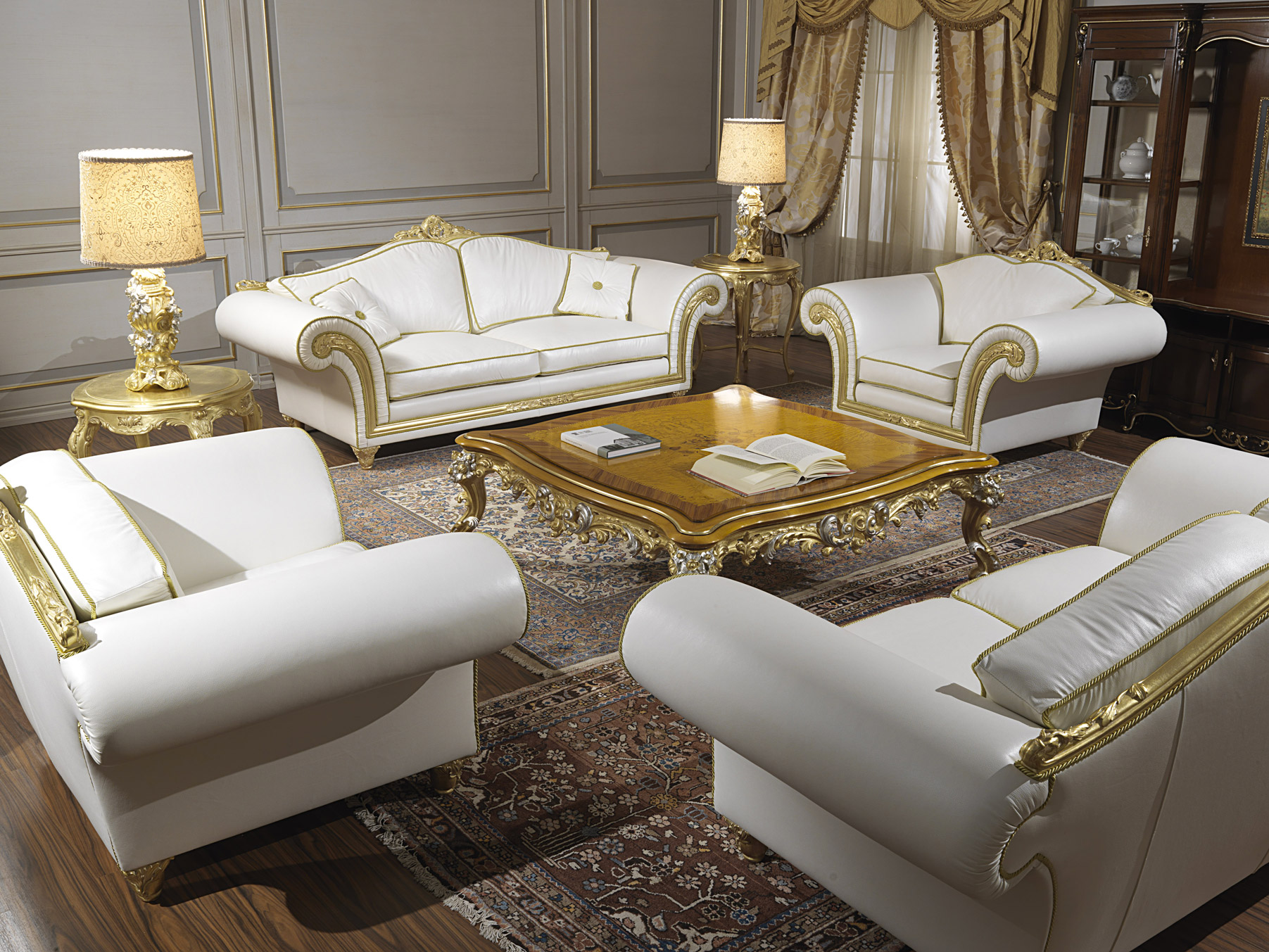 create a classic living room for important receptions