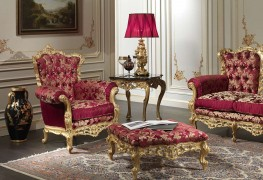 Baroque armchair and the living room