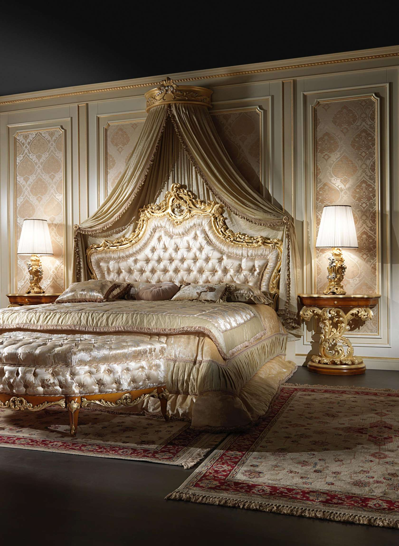 The canopy bed the models in the most beautiful wall - Contemporary canopy bed for a royal room ...