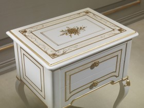 Classic decorated bedside tables