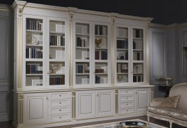 Library classic style lacquered white
