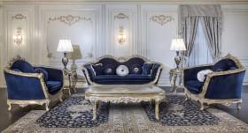 Sofa leaf gold blue