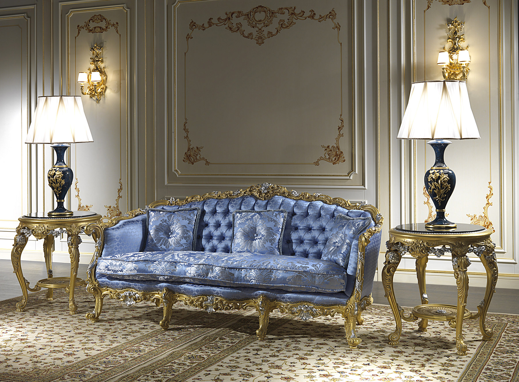 Divani di classe per salotti eleganti e di lusso for Salotti bellissimi