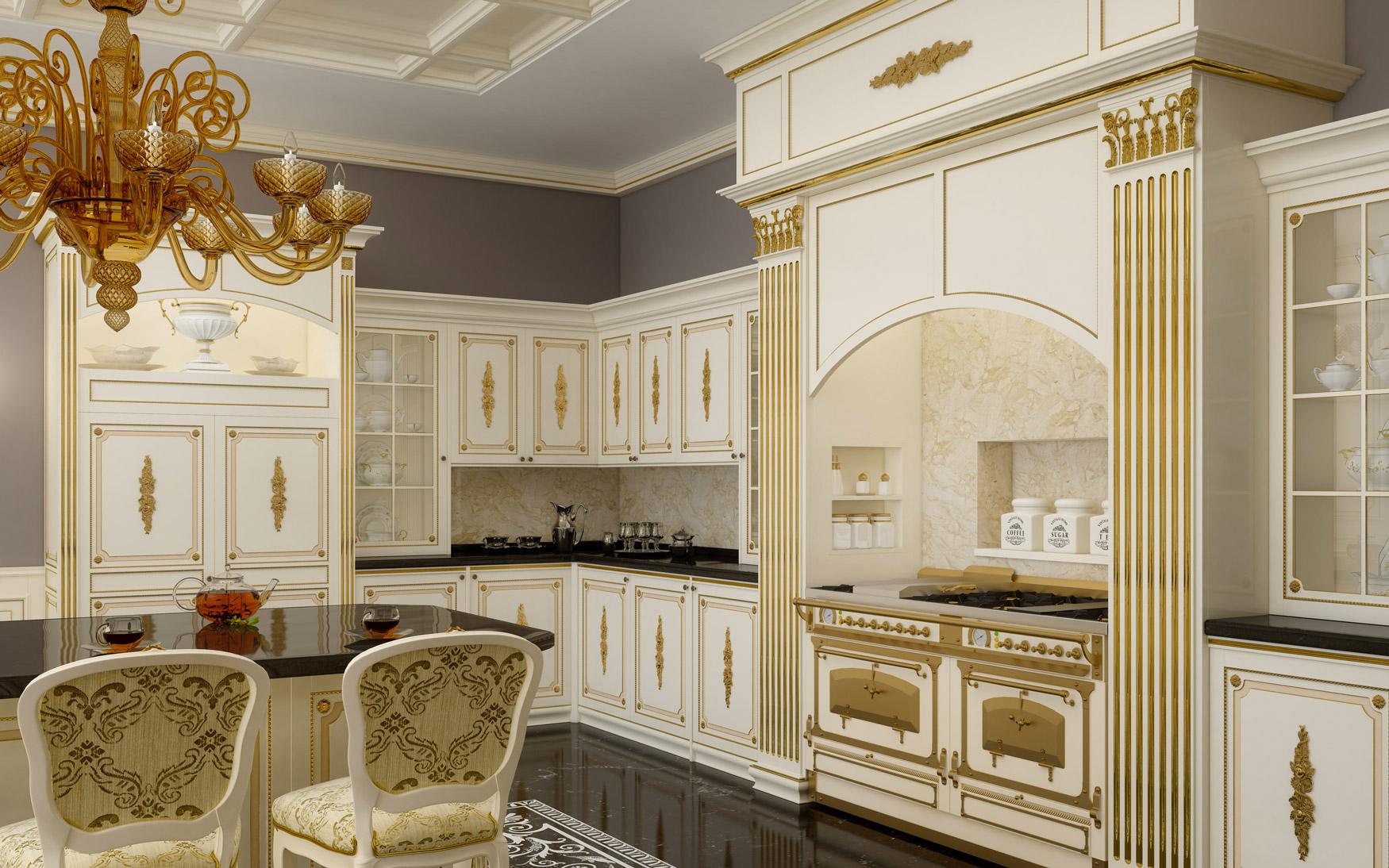 Cucine di lusso su misura lo stile classico si mette ai - Cucine di lusso ...