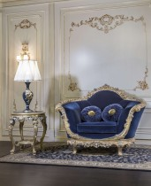 Armchairs for luxury living rooms, blue version