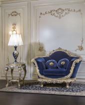 Poltrone per salotti di lusso, versione blu