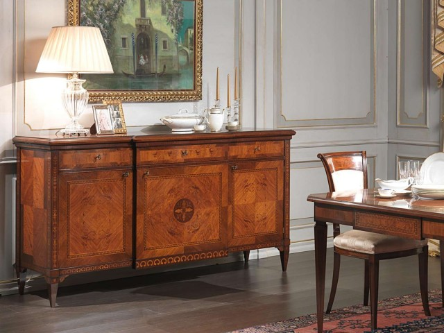 Luxurious wooden sideboard