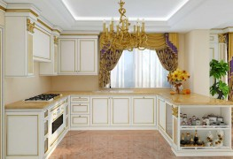 Luxury furniture for the kitchen, gilded