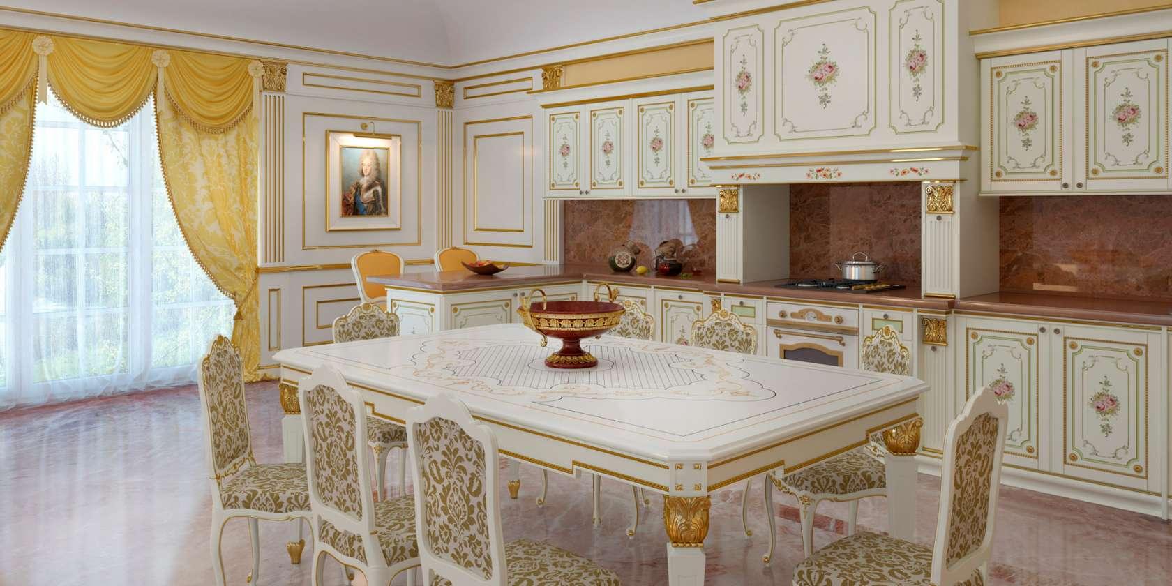 Mobili di lusso per cucina lo stile classico tra i fornelli for Mobili di lusso outlet