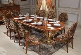 Вдохновение в классической гостиной: золото