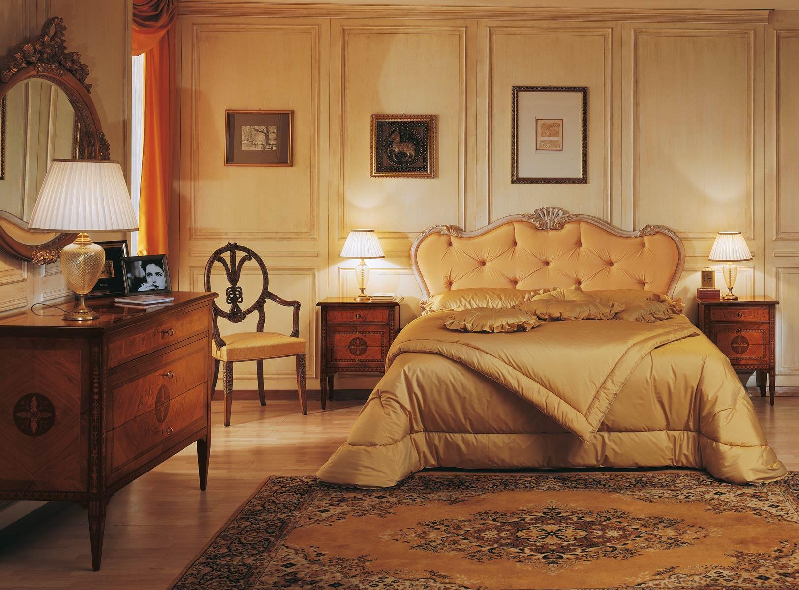 Classic luxury maggiolini bedroom capitonn bed chest of - Camera da letto stile barocco veneziano ...