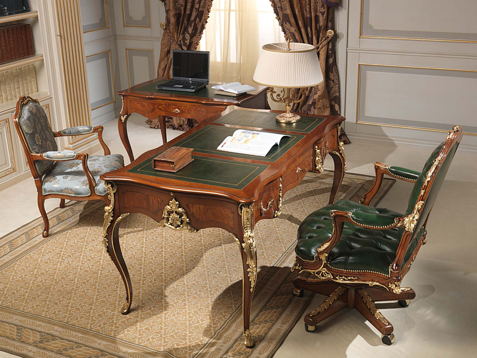 Classic office louis xv style vimercati classic furniture for Classic home tables