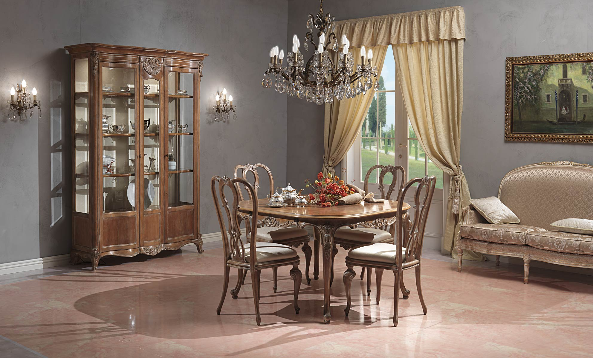 Paris Living Room In Louis Xv Style Vimercati Classic Furniture