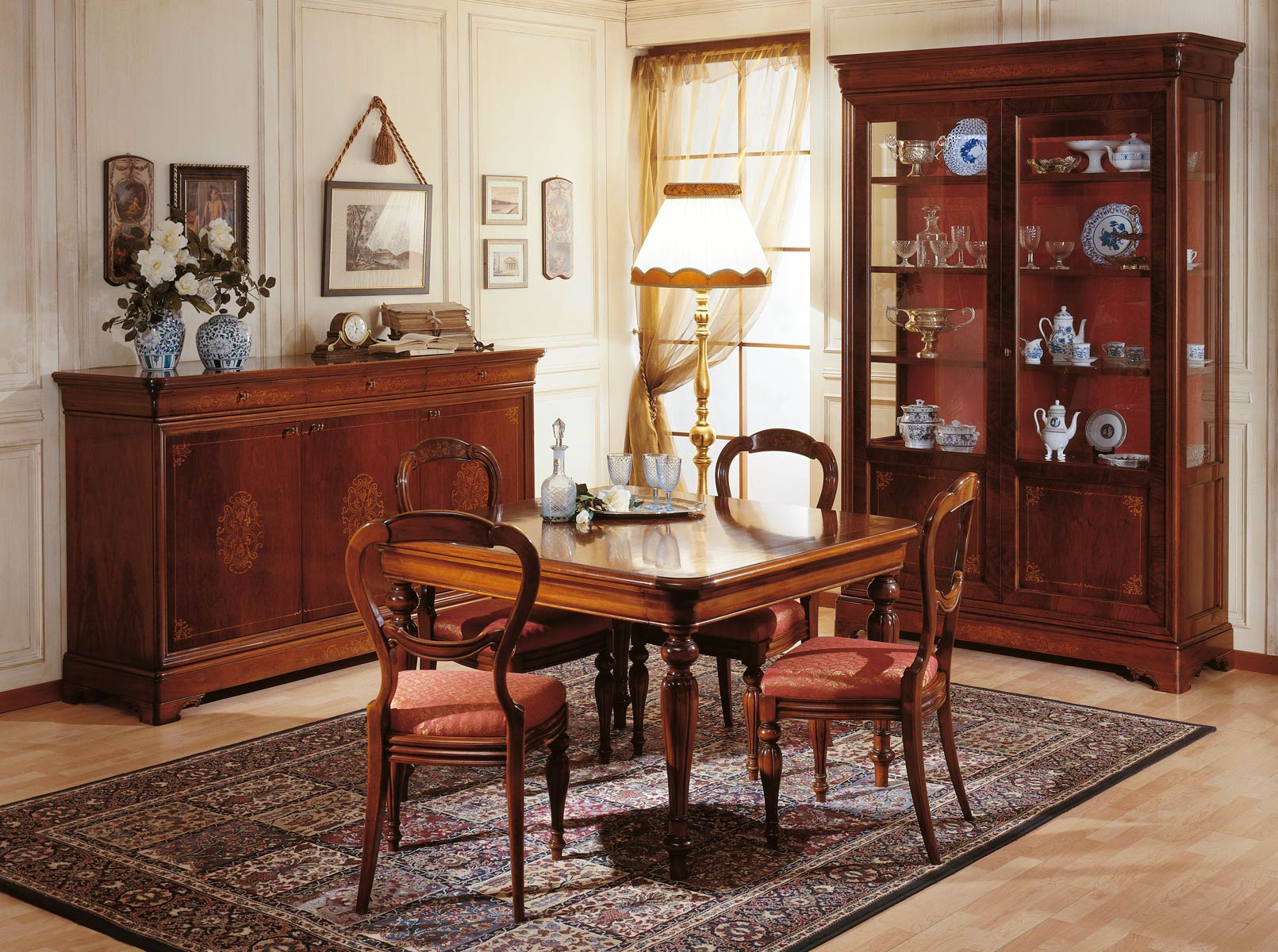 Dining room 19th century french vimercati classic furniture for Sala da pranzo decor