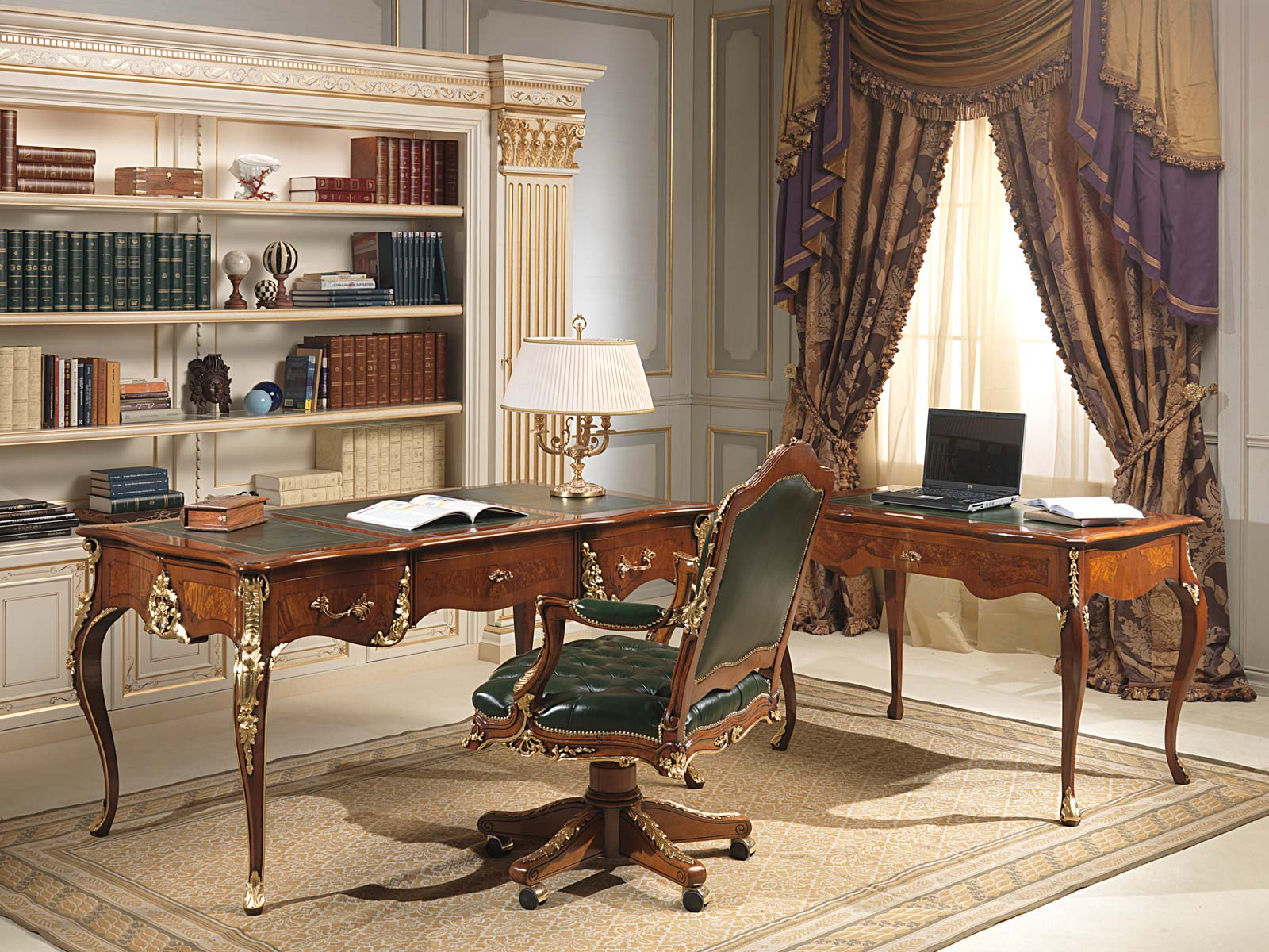 Office louis xv style vimercati classic furniture for Case moderne classiche
