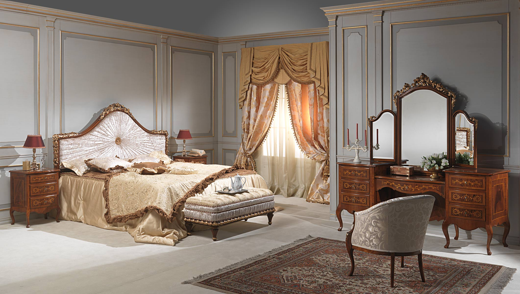 Classic louvre bedroom vimercati classic furniture - Camera da letto lusso ...