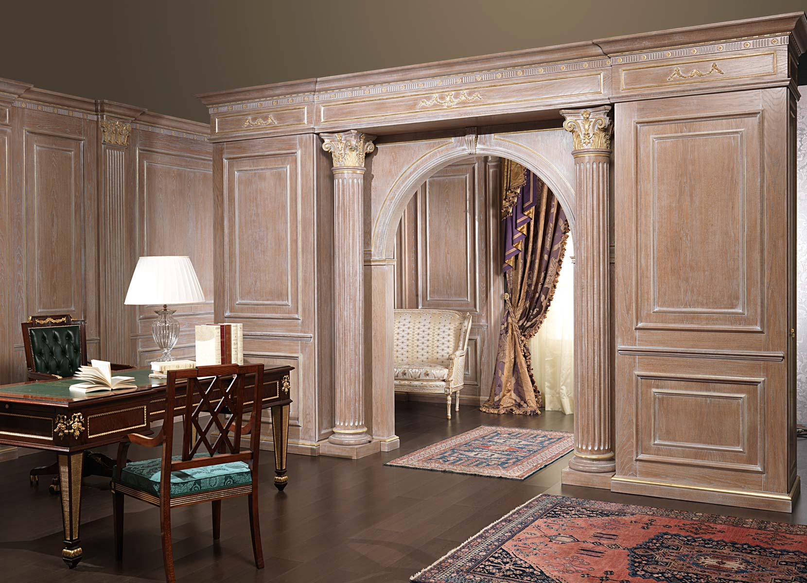 Boiserie And Doors On Project Vimercati Classic Furniture