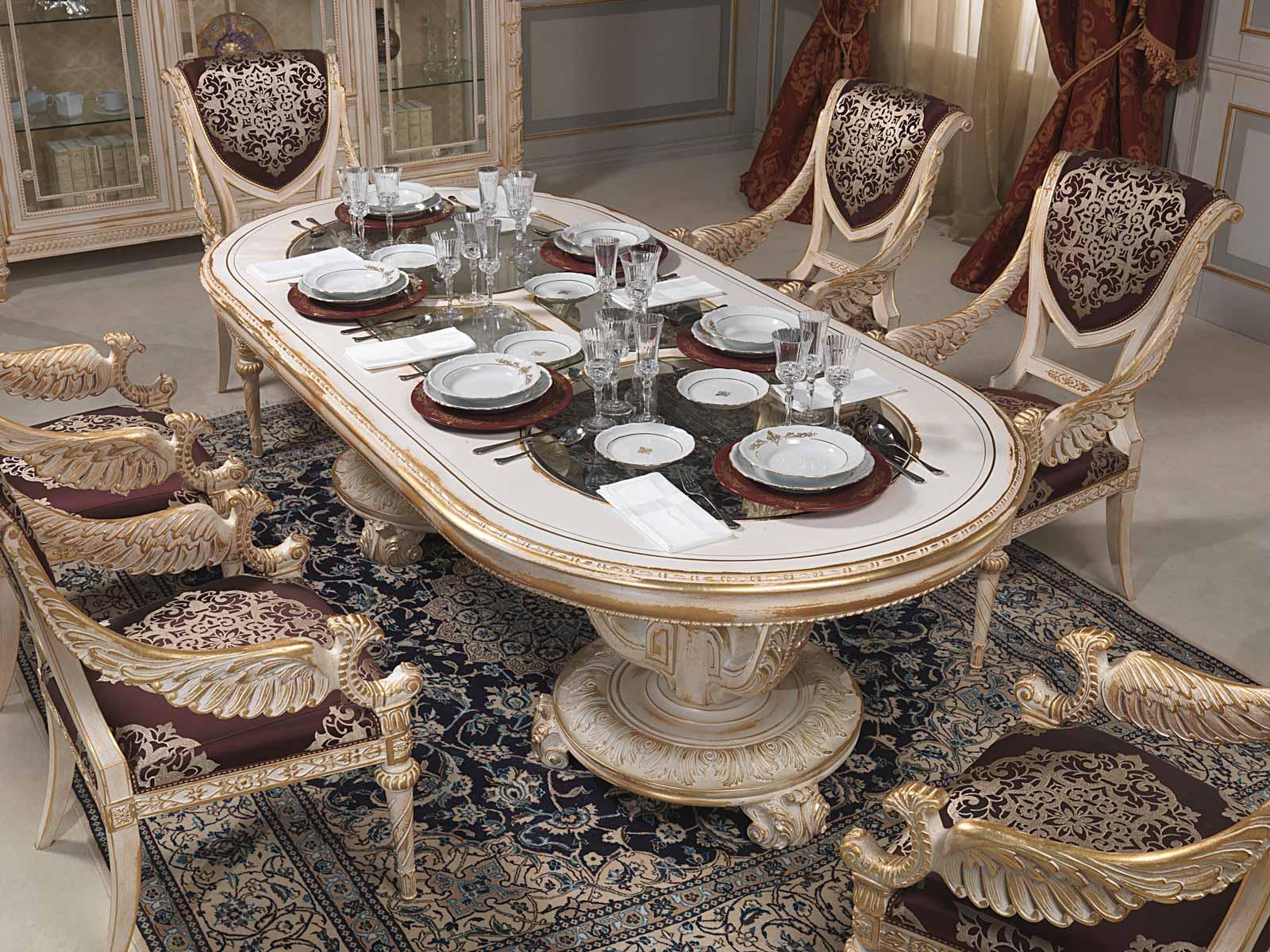 Dining Table In Louis Xvi Style Vimercati Classic Furniture