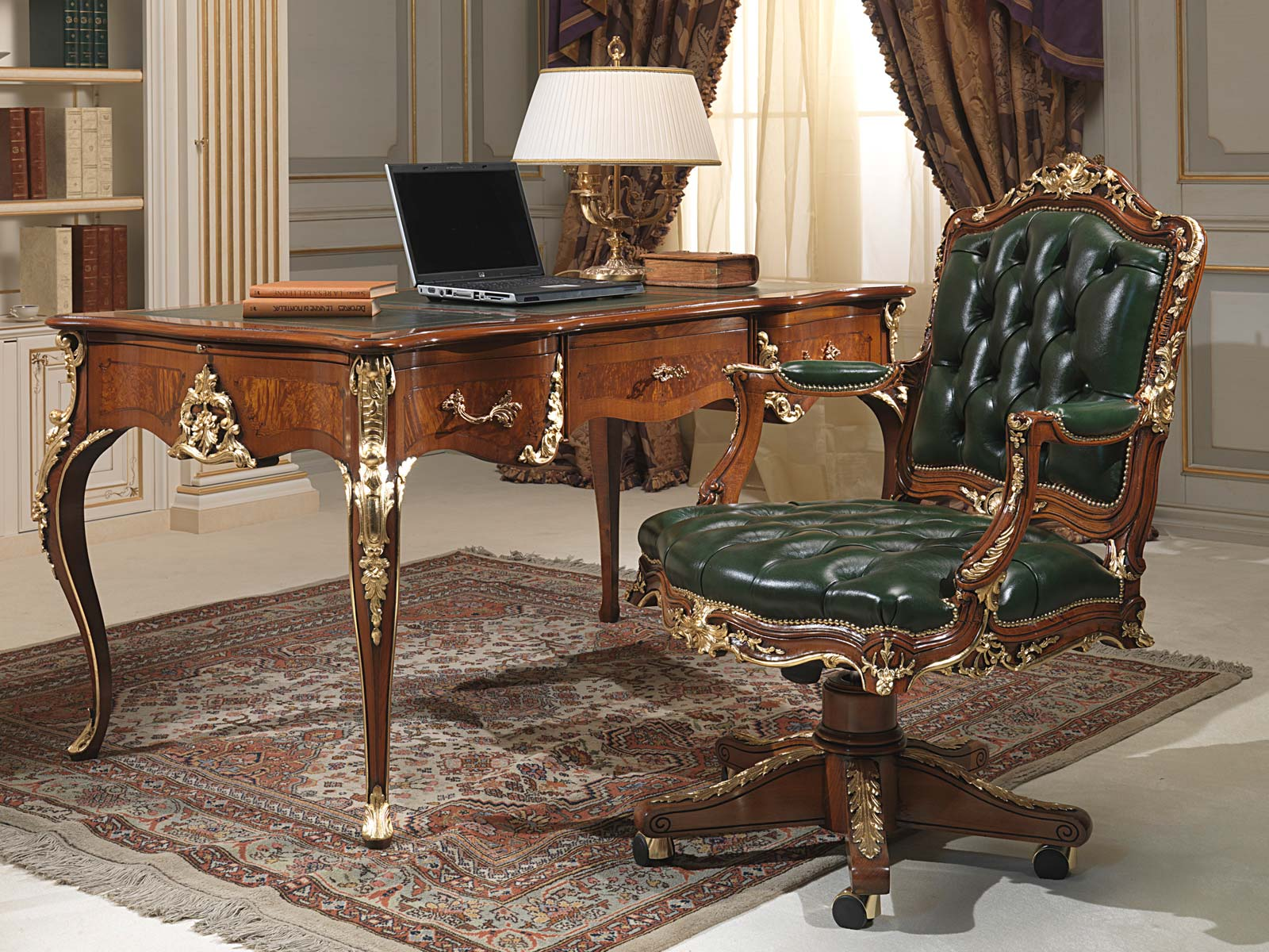 Classic office louis xv style vimercati classic furniture for Classic house furniture galleries