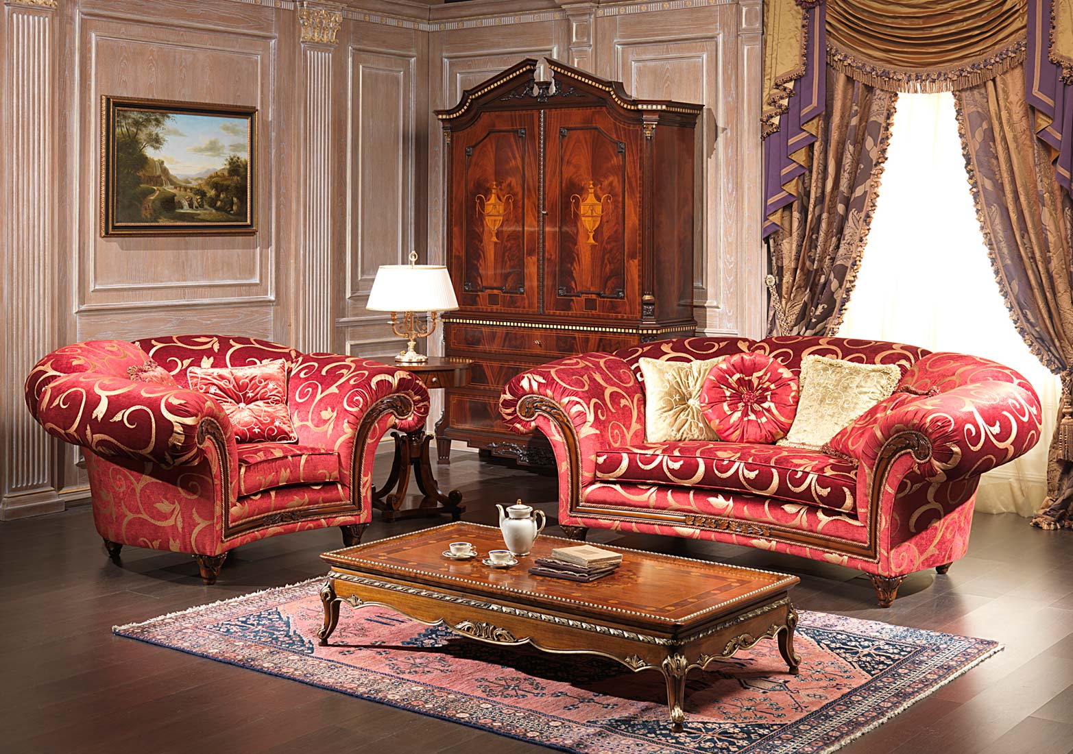 Classic living room palace with small table vimercati Living room furniture styles and colors