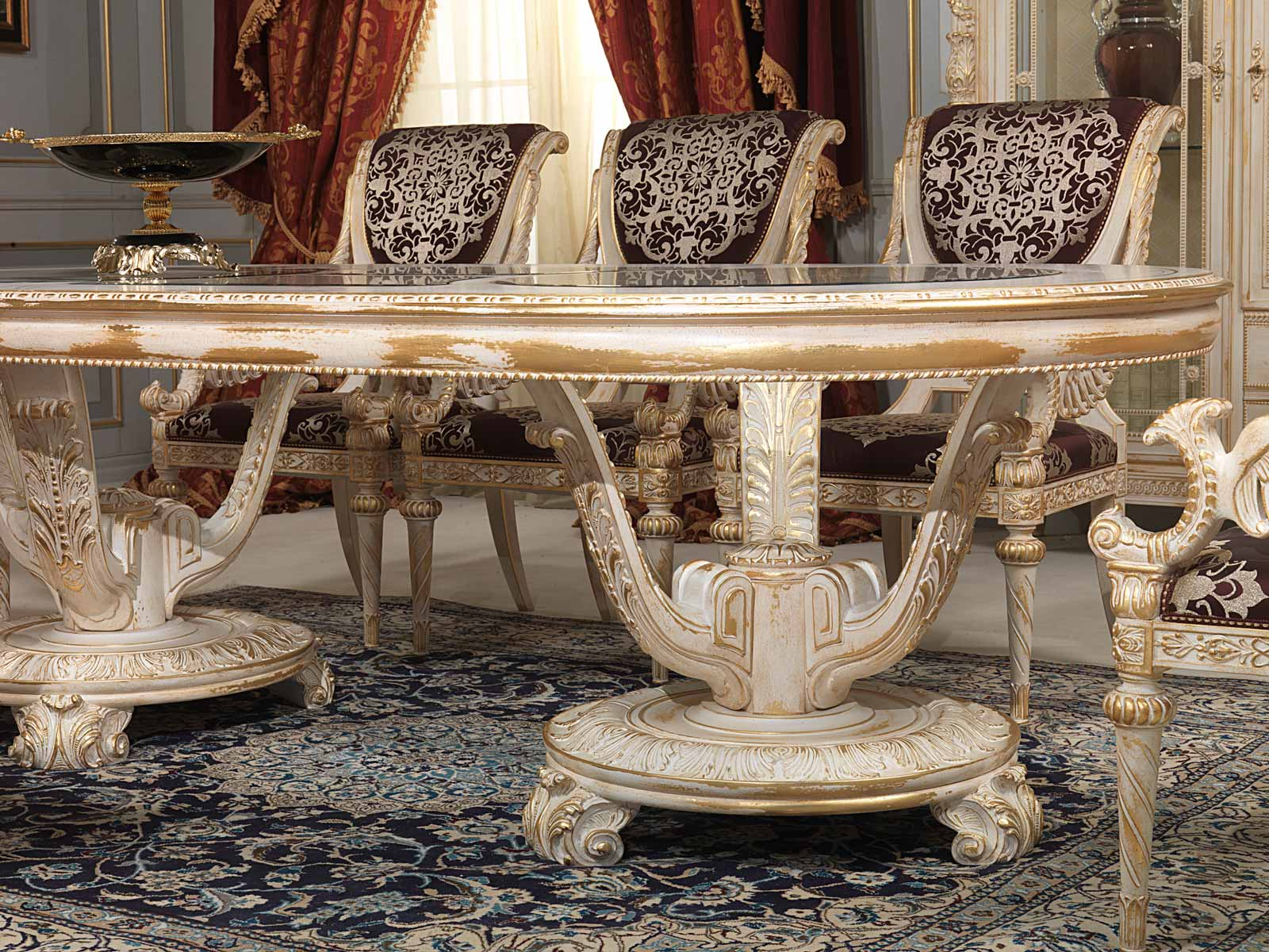 Carved Dining Room In Louis Xvi Style Vimercati Classic