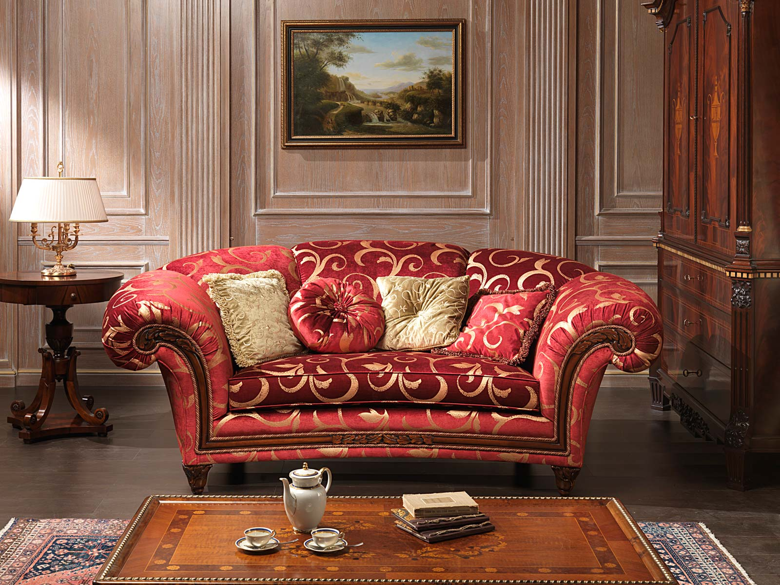 Classic Sofa Palace And Table Vimercati Classic Furniture