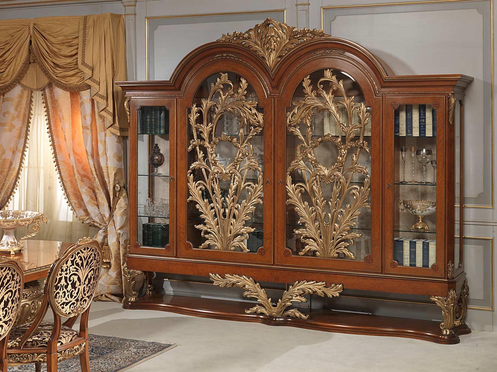 Versailles Glass Showcase In Louis Xvi Style Vimercati