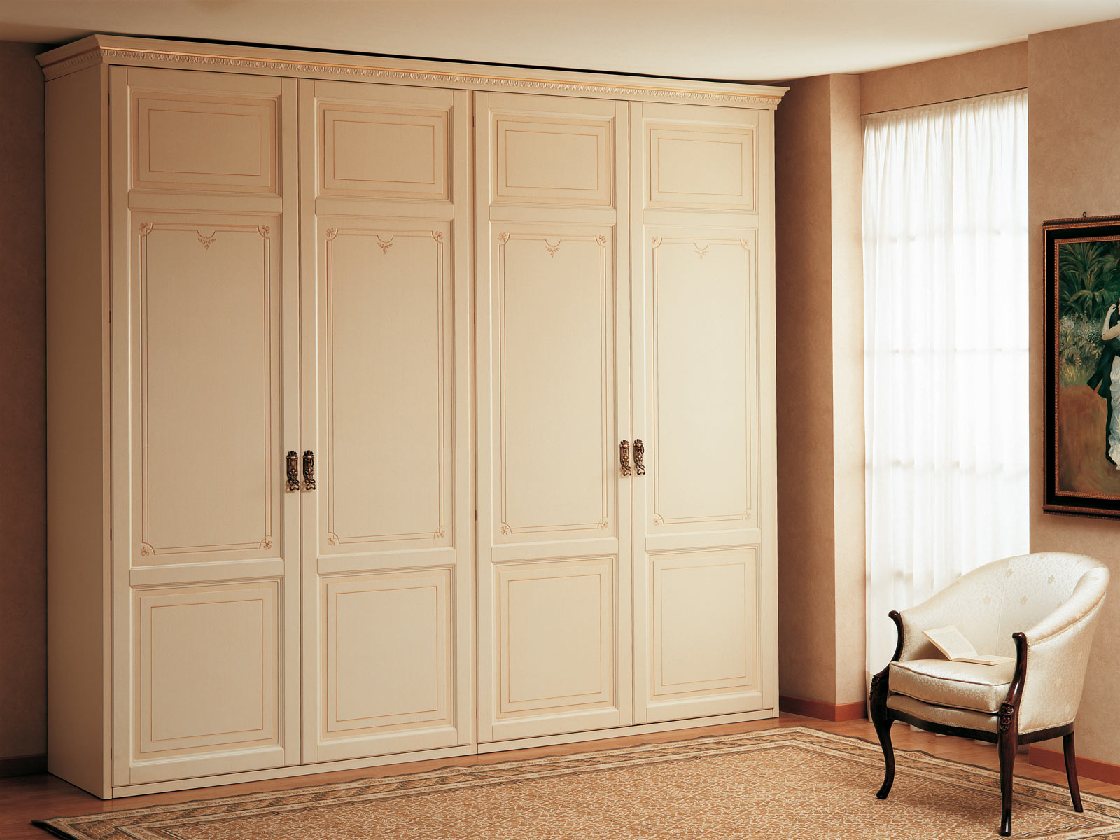 Classic Wardrobe With Two Two Doors Elements Vimercati